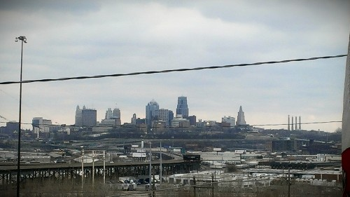 The view of Kansas City, Missouri, from the mansion's porch.