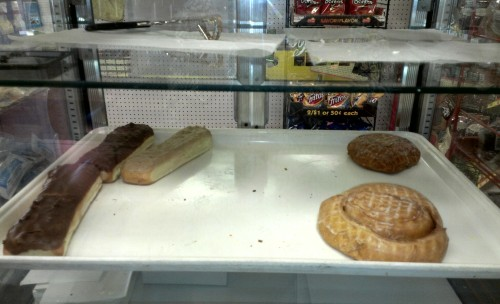 I mistook one of these giant donuts for a baguette.